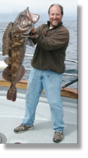 Captain Joe with a 33 pound Ling Cod